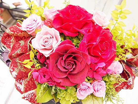 e87 イイハナ プリザーブドフラワー 絢爛の薔薇 ダイヤモンドの輝き e87-flower-diamond