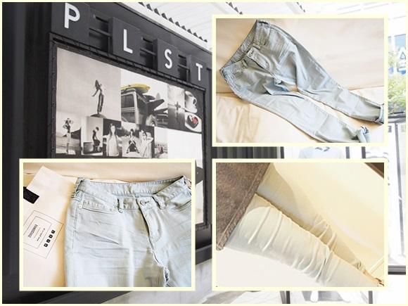 PLST プラステのスラウチースキニーストレッチクロップドパンツ plst-pants