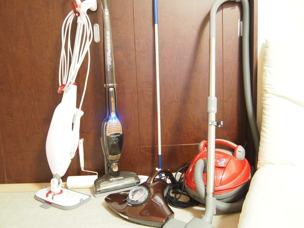 おすすめお掃除家電!エレクトロラックス掃除機とレイコップとスチームクリーナー