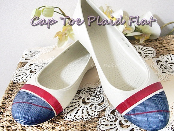 cap toe plaid flat (60)