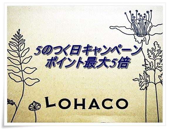 当日届くLOHACO(ロハコ)を使うなら5のつく日