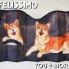 可愛すぎるフェリシモ 車用サンシェード(日よけカバー)は犬が待っている